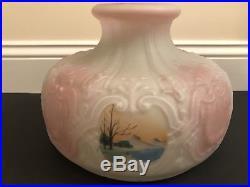 10 Antique Original #550 Swiss Scenic Aladdin Mantle Oil Kerosene Lamp Shade