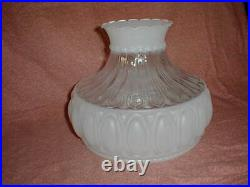 10 CLEAR & ETCHED GLASS SHADE fits aladdin/student/banquet oil kerosene lamp