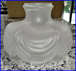 10 Drape Satin Glass Kerosene Oil Lamp Shade Aladdin Coleman Vtg Antique