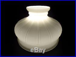 10 Early Coleman Style Opal Glass Oil Kerosene Electric Lamp Shade fits Aladdin