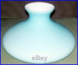 10 GLASS SHADE BLUE CASED TAM O SHANTER fits oil kerosene lamp Aladdin