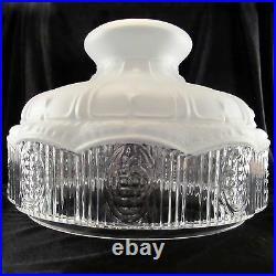 10 GLASS SHADE oil kerosene lamp student Satin Crystal 501 style / Non Aladdin