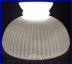 10 Ribbed Milk Glass Student Oil Kerosene Lamp Shade fits Aladdin Table Hanging