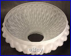 10 Satin Glass Diamond Quilted Quilt Oil Kerosene Lamp Shade fits Aladdin SH410
