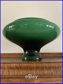 10 Tam O Shanter Green Cased Glass Oil Kerosene Lamp Shade Aladdin B&H Rayo