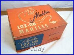 11 Aladdin Lox-On Mantle Fluid Oil Kerosene Lamp Light Display Box NOS B C 21C