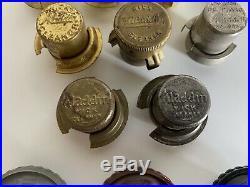 (12) DIFFERENT Aladdin Oil Kerosene Lamp Wick Cleaners Including HTF UK 3 Prong