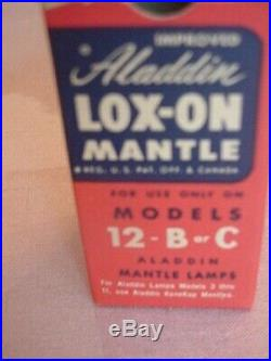 12 Unopened Aladdin Lox-on Mantle Lamp Models 12-b Or C