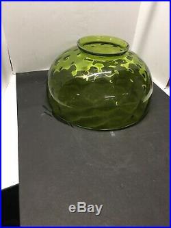 14Vintage Green Kerosene Oil Or Electric Student Hanging Aladdin Lamp Shade