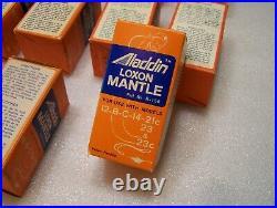 17 NOS Aladdin Loxon Mantle Lamp Kerosene 12-B-C-14-21C, 23 and 23C