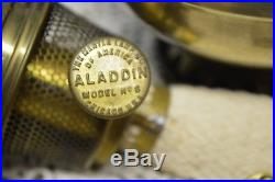 1914 ALADDIN #6 Style #115 Hanging Lamp #215 Shade #6 Burner wick #5 Font Chimn