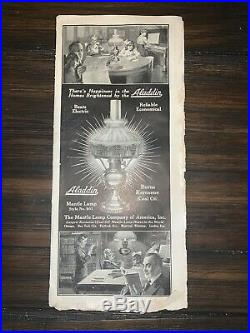1920 Aladdin Lamp Advertisement