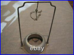 1920's Aladdin #9 nickel plated Kerosene lamp w 12H chimney & mantle stand