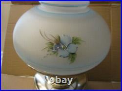 1920's Aladdin Model 12 Oil Kerosene Wall Bracket Floor Lamp hand painted shade