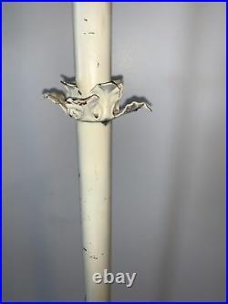 1928-1929 Aladdin Oil Kerosene Model 12 Bird Cage Floor Lamp Repainted Base