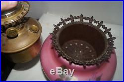 1928 35 Aladdin #12 GWTW Kerosene Oil Table Banquet Parlor Lamp Marked Chimney