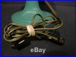 1930's-40s Aladdin Nu-Type Model B Quilt Pattern Jadeite Green Kerosene Lamp