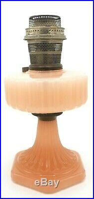 1930's ALADDIN Model B Corinthian Moonstone Rose KEROSENE LAMP Vintage VTG