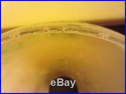 1930s Aladdin Model 12 ART GLASS VASE LAMP Large 12 Inch Tall Glass Kerosene