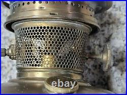 1932 Green #12 Aladdin Variegated Verde Venetian Art Glass Vase Lamp