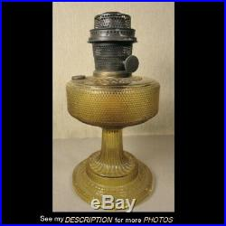 1933 Aladdin Amber Colonial Model 106 Kerosene Oil Lamp Model B Burner