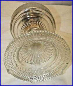 1933 Aladdin Crystal Clear Colonial Pattern Kerosene Oil Table Lamp PRISTINE