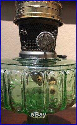 1934 Model B Aladdin Cathedral Kerosene Lamp 108 Green EXC COND