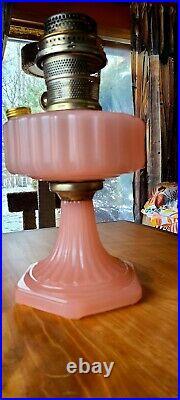 1935-1936 Aladdin model# B-116 Rose Moonstone Corenthian Oil Lamp