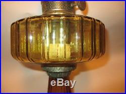1935-1936 Amber Aladdin Corinthian Oil Lamp