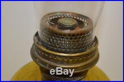 1937-1938 ALADDIN AMBER BEEHIVE B-82L Lamp NuType B Burner Flm Spreader Chimney