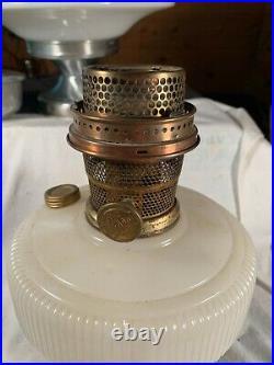 1937-1939 ALADDIN Model B-96 White Queen Kerosene Oil Lamp