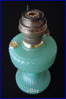 1937 Aladdin B 86 Mantle Lamp Diamond Quilt Blue Green