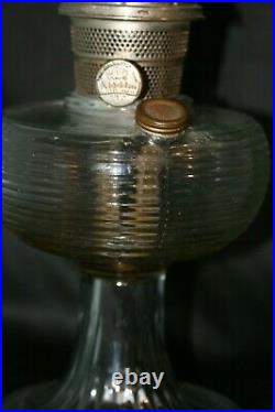 1937 Beehive Aladdin B-80 Crystal Glass Kerosene Oil Lamp