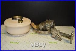 1938-1940's ALADDIN Model B WALL ALACITE OIL LAMP Nu-Type B Burner & Bracket