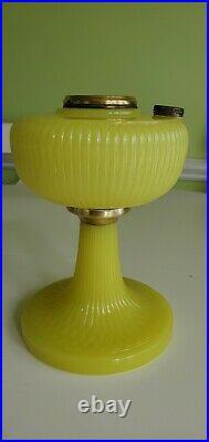 1938 Aladdin B-88 Yellow Vertique Glass Lamp Font only Quick Ship
