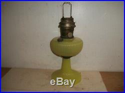 1938 Aladdin Vertique B-88 Yellow Moonstone Oil Lamp Nu Type Model B Burner