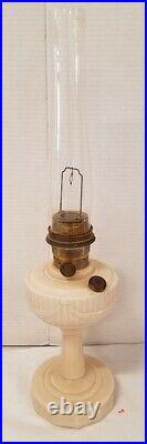 1939 Aladdin Mantle Kerosene Oil B-60 Alacite Glass Short Lincoln Drape Lamp
