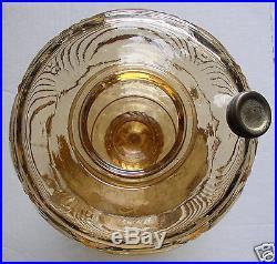 1940 Aladdin Amber Washington Drape Filigree Kerosene Oil Lamp B-52