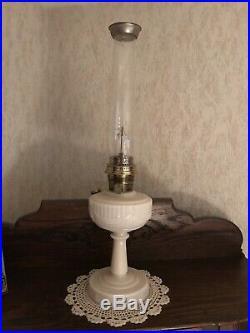 1940s Aladdin Alacite Lincoln Drape Kerosene Oil Table Lamp