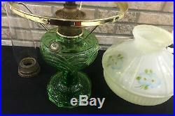 1941 Aladdin Washington Drape Bell Stem Kerosene Lamp B49 Shade hurricane burner