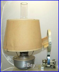 1960s Aladdin 21C Kerosene Oil Railroad Caboose Lamp Lantern With PAPER Shade