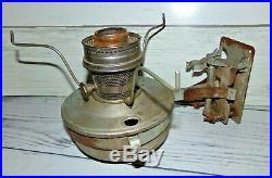 2 Vtg Aladdin Railroad Caboose Wall Bracket Kerosene Lamp 23 21c Burner Lantern