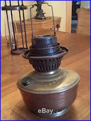 23 ANTIQUE ORNATE VICTORIAN HANGING ALADDIN KEROSENE GAS LAMP LANTERN NO. 12