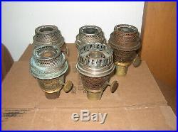 5 Aladdin B Burners And Parts / Oil Lamp Burner Parts