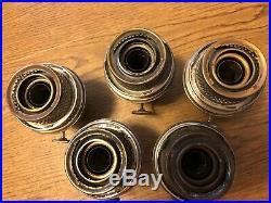 5 nickle Model B aladdin lamp burners