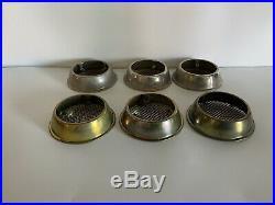(6) Aladdin Oil Kerosene Lamp Insect Bug Screens 3 Nickel + 3 Possibly Brass