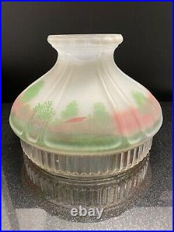 601S Model 12 Original Aladdin Mantle Oil Cabin Decorated Glass Table Lamp Shade