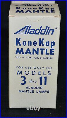 9 Vintage Aladdin Kerosene Oil Lamp Kone Kap Mantles, for Models 3 thru 11- OB
