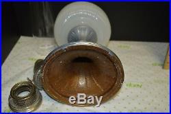 ALADDIN B-96 WHITE MOONSTONE QUEEN OIL LAMP Nu-Type B Burner Lox Chimney 1937-39