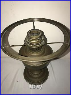 ALADDIN COLONIAL OIL LAMP BRASS, COMPLETE WithCHIMNEY, SHADE & BURNER